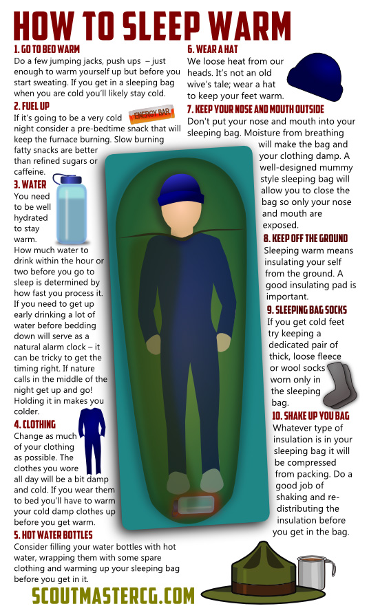 10 Tips On Sleeping Warm While Camping
