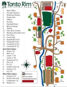 Tonto Rim Camp Map